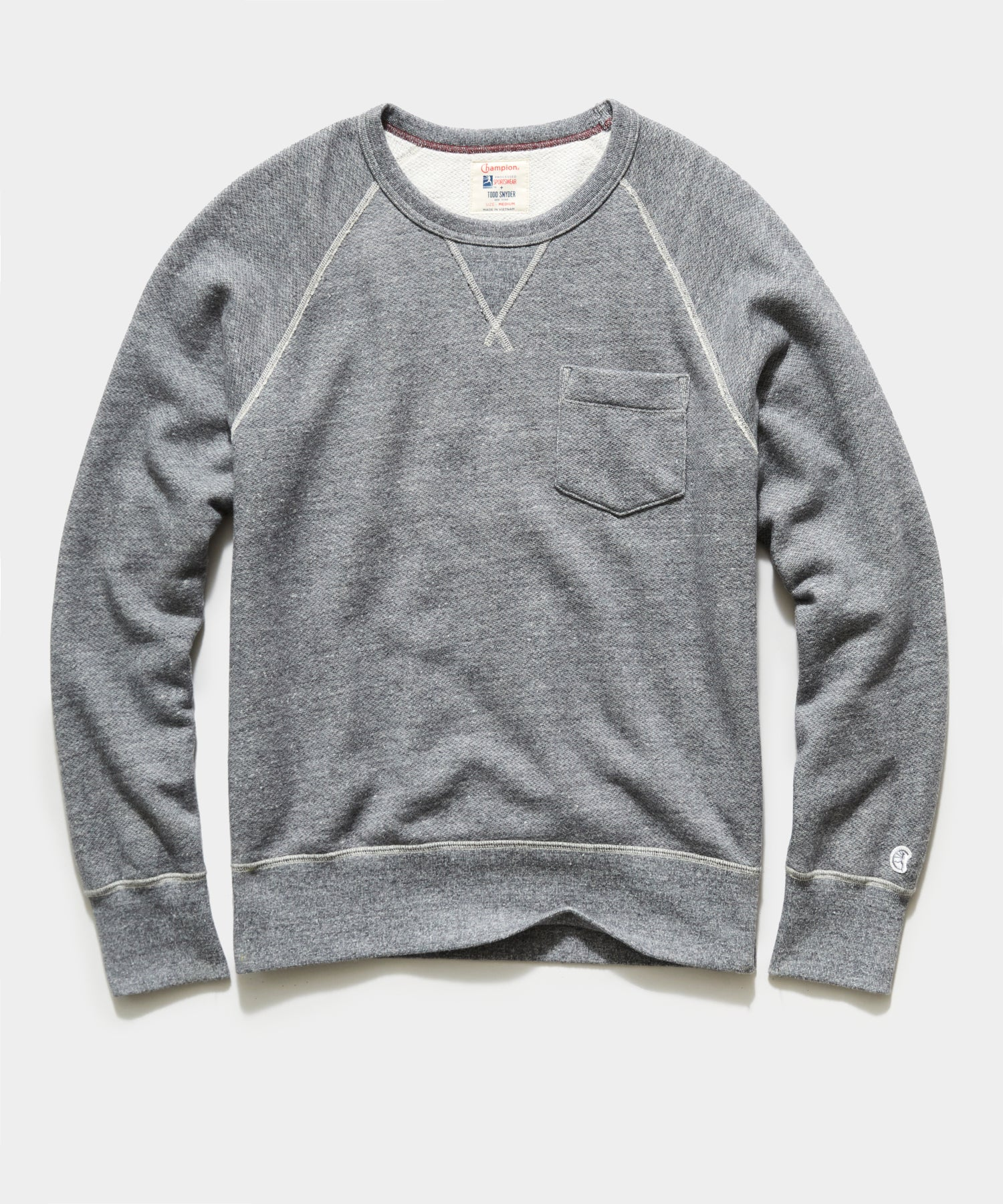 Midweight Pocket Sweatshirt in Light Grey Mix