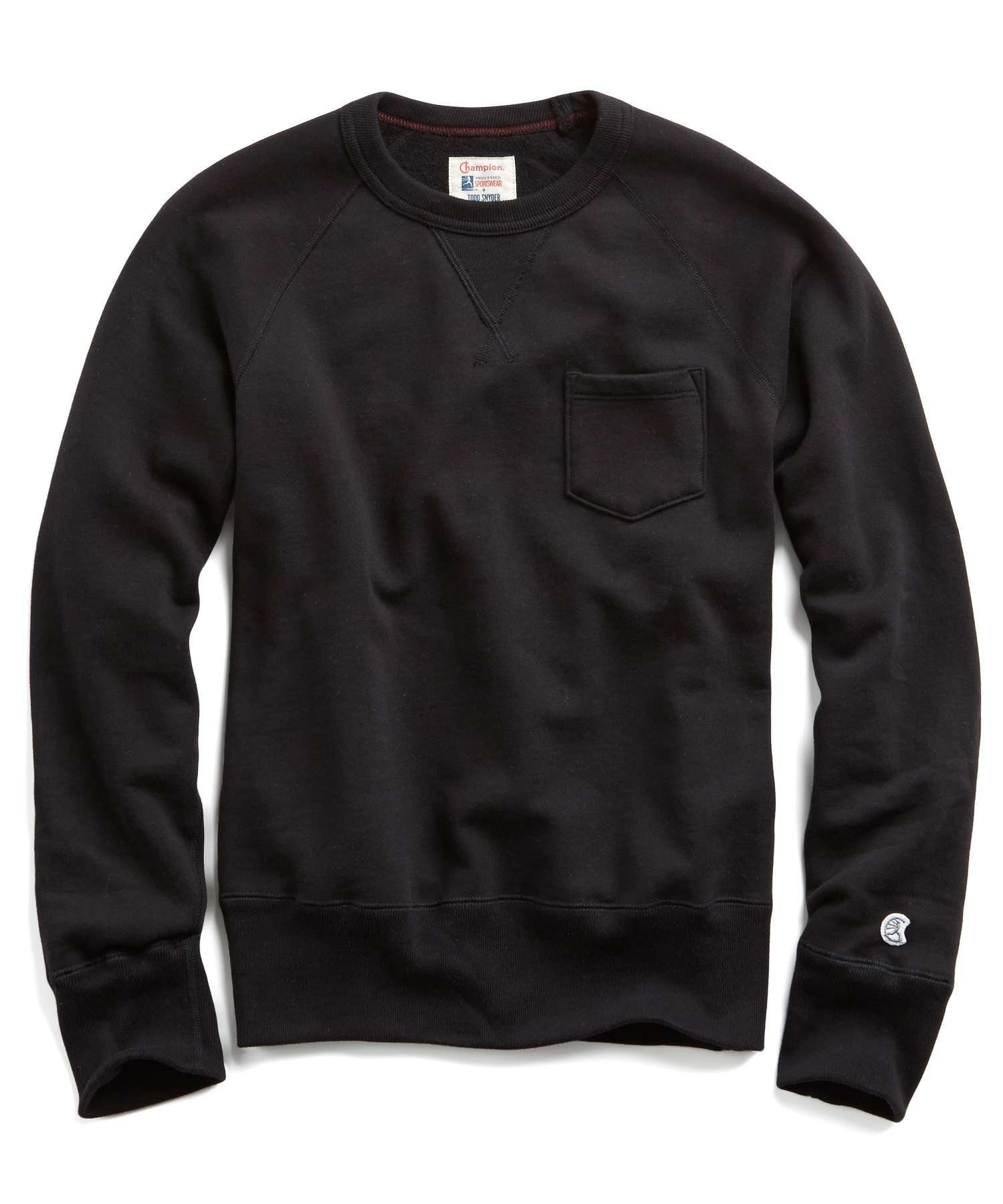 Heavyweight Pocket Sweatshirt in Black
