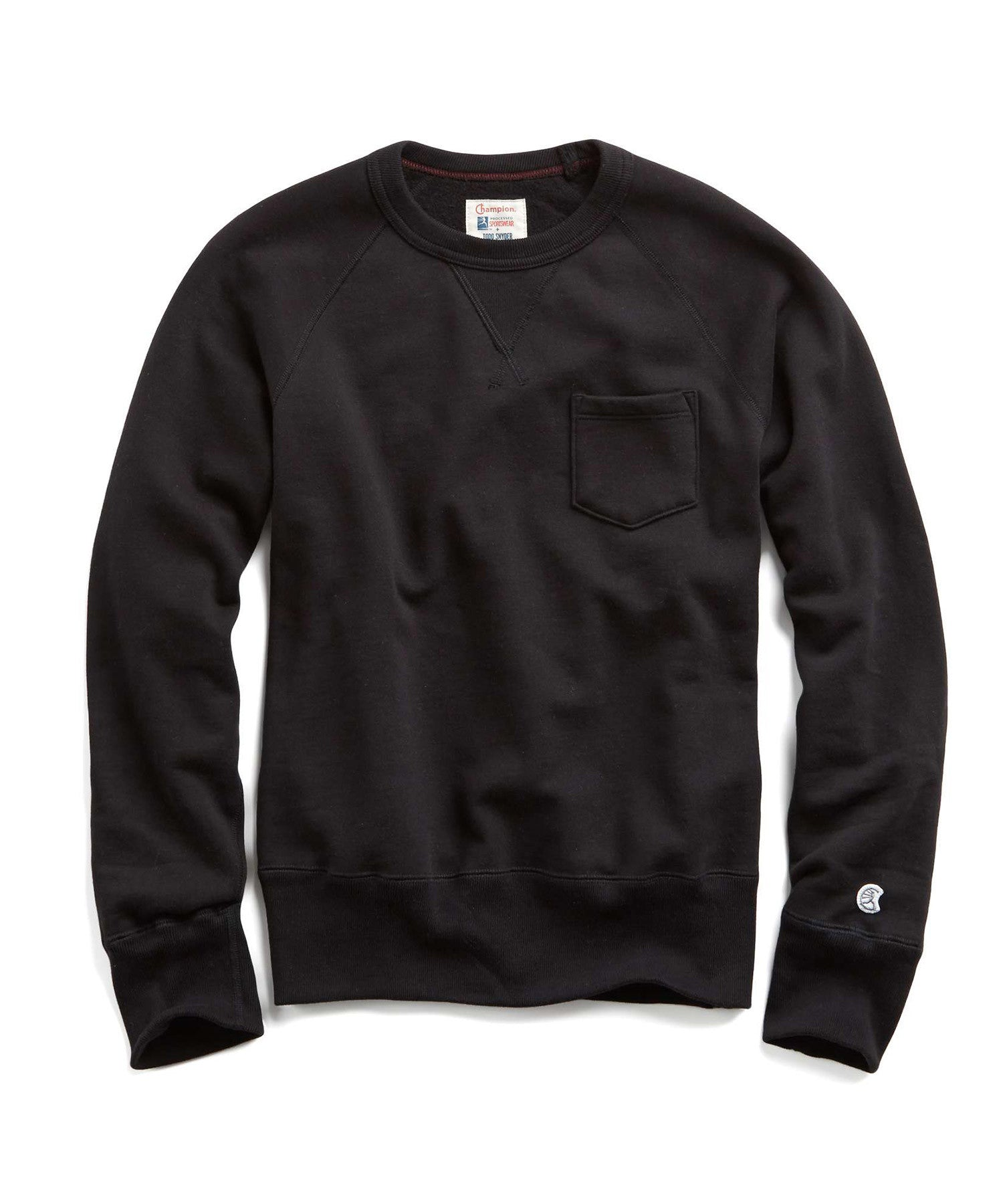 Fleece Pocket Sweatshirt in Black