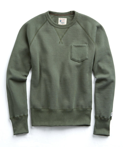 Classic Pocket Sweatshirt in Washed Olive