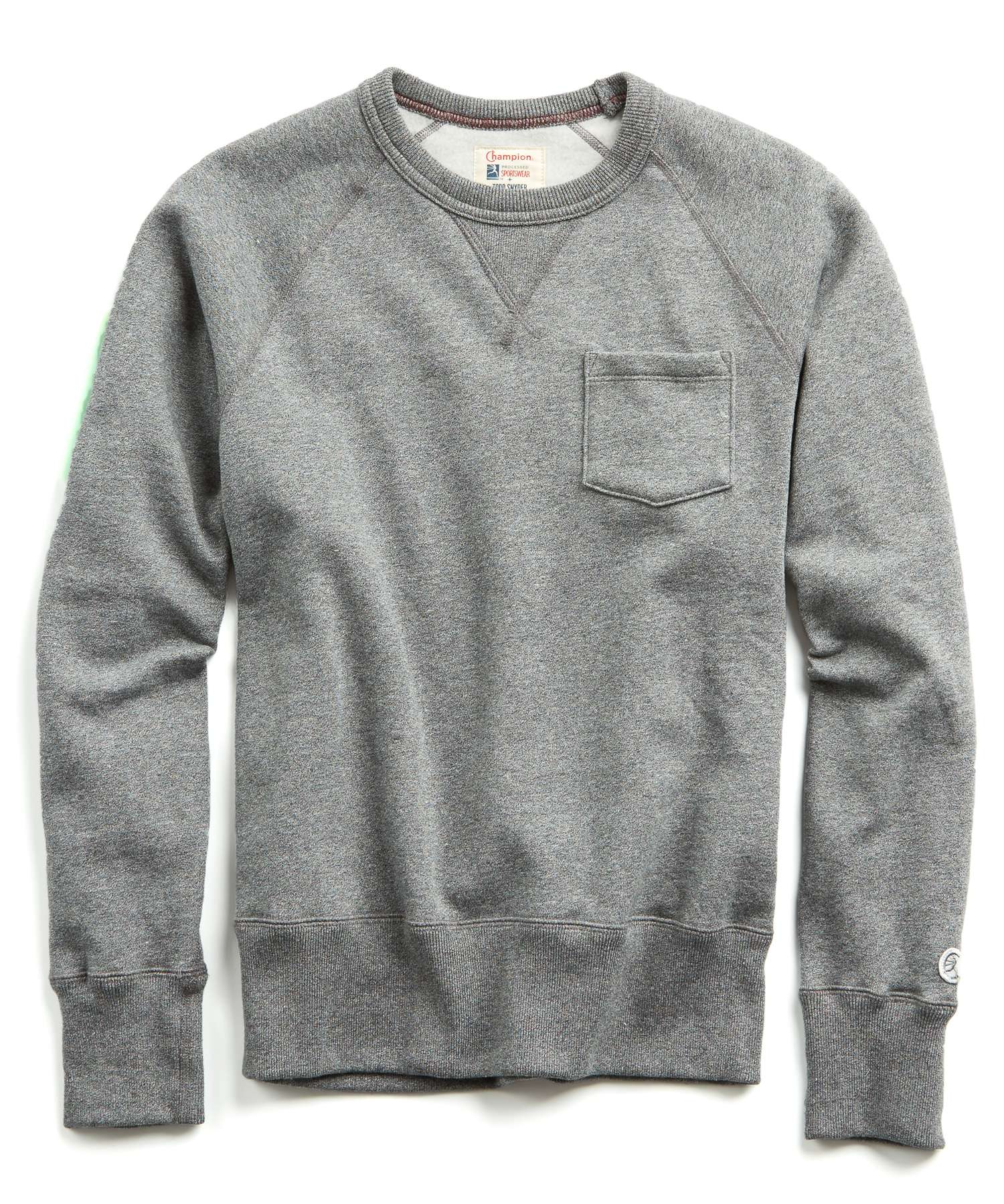 Fleece Pocket Sweatshirt in Salt and Pepper