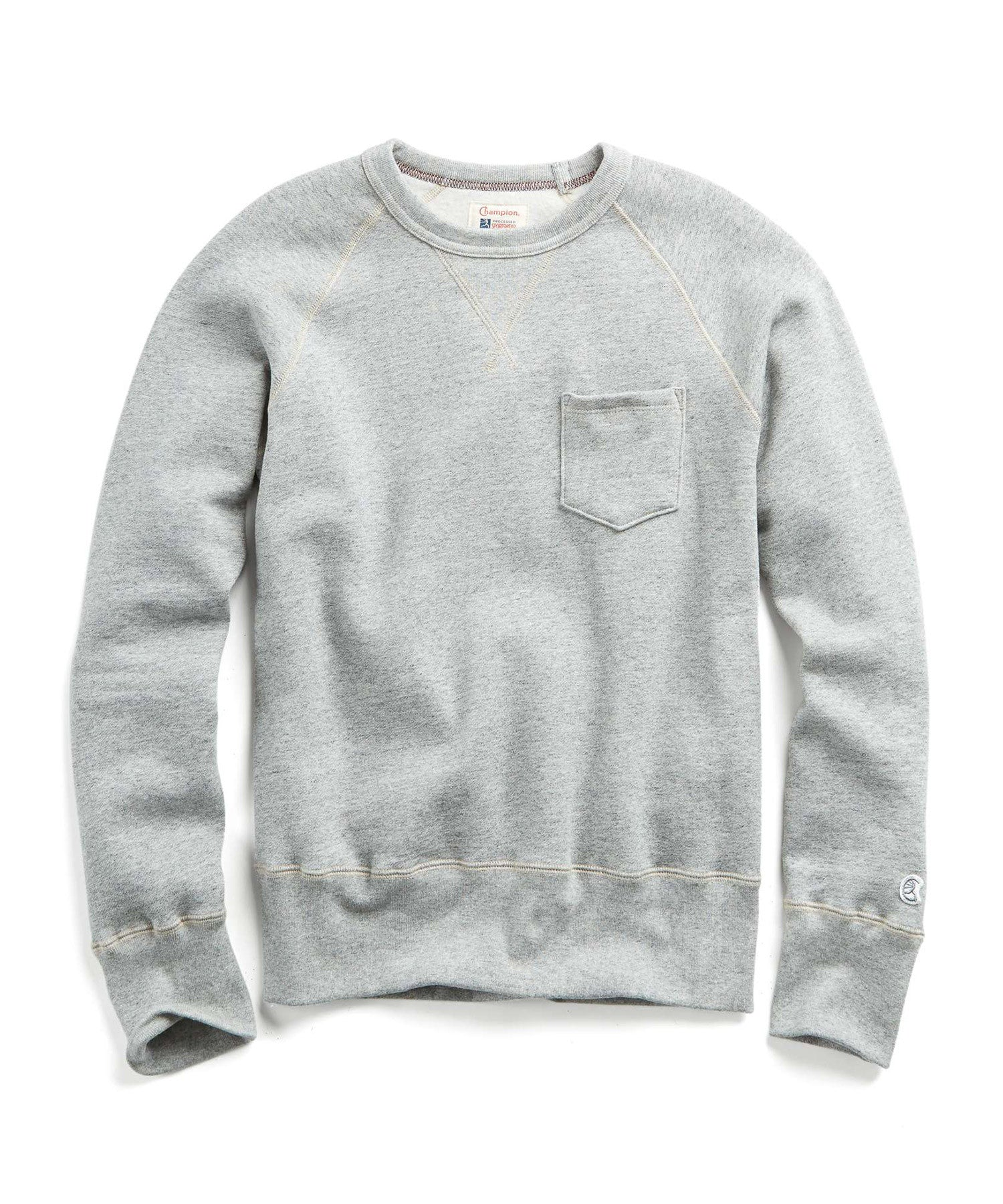 Fleece Pocket Sweatshirt in Light Grey Mix
