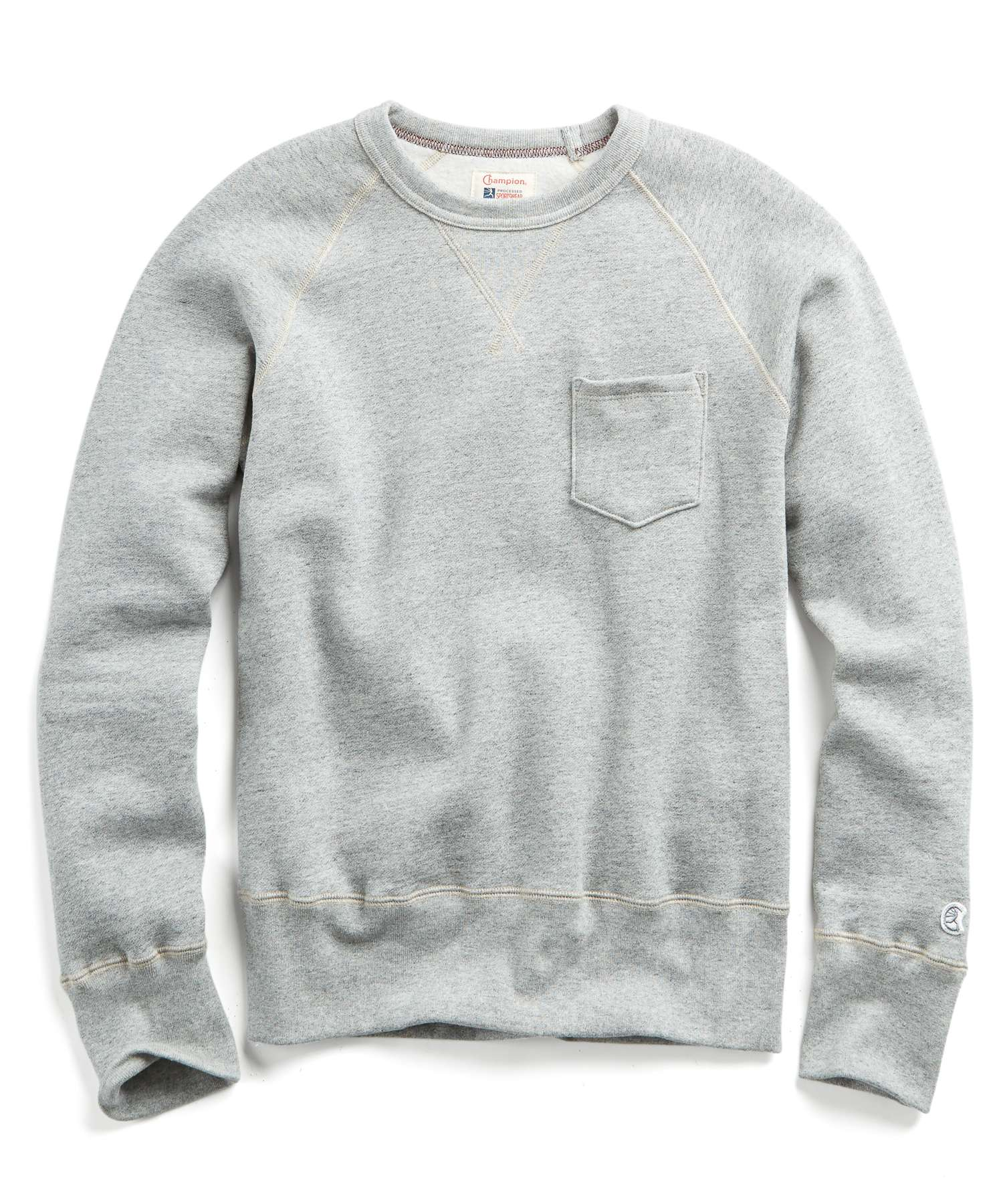 Heavyweight Pocket Sweatshirt in Light Grey Mix