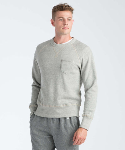 Classic Pocket Sweatshirt in Light Grey Mix