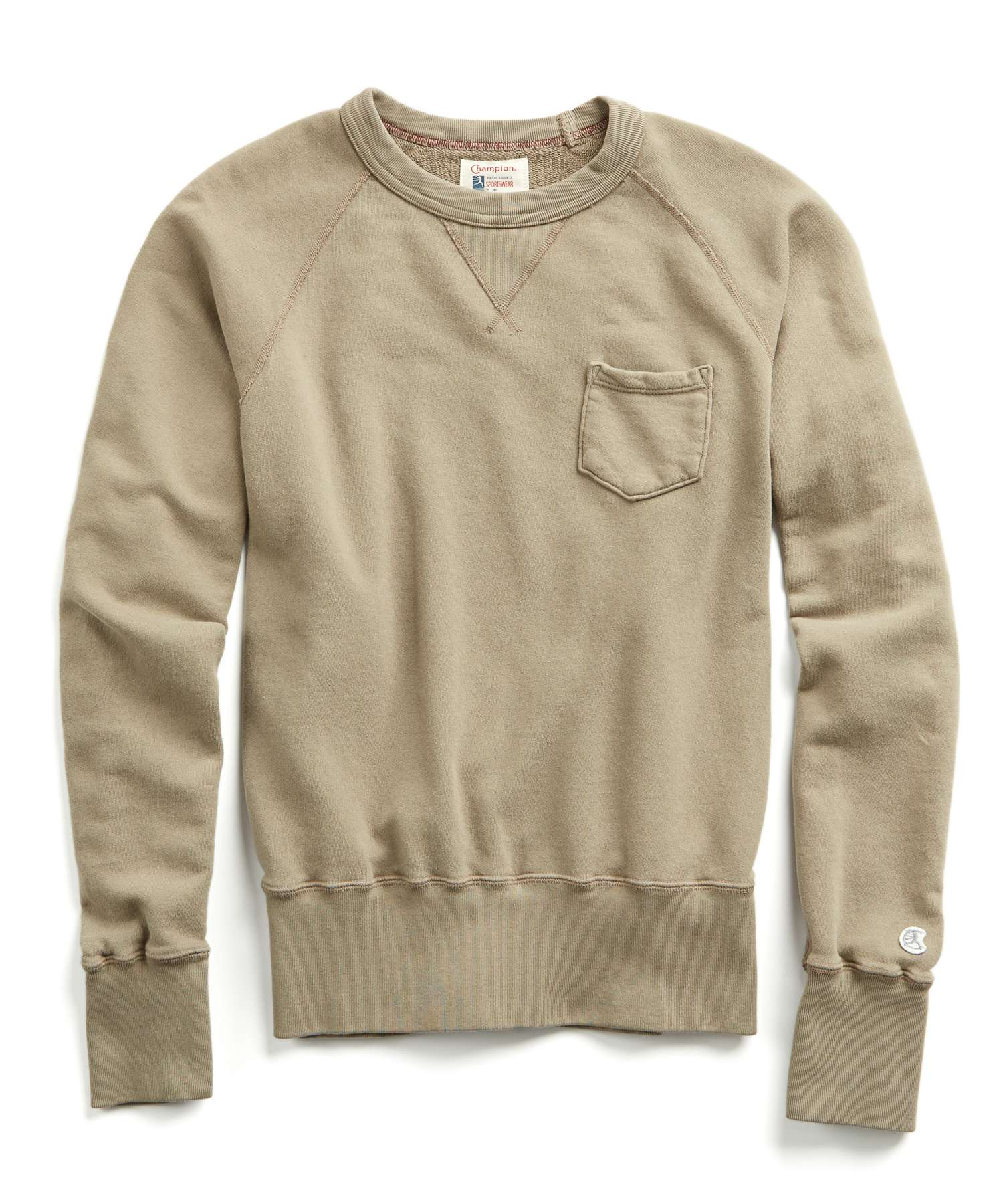 Terry Pocket Sweatshirt in Dark Driftwood