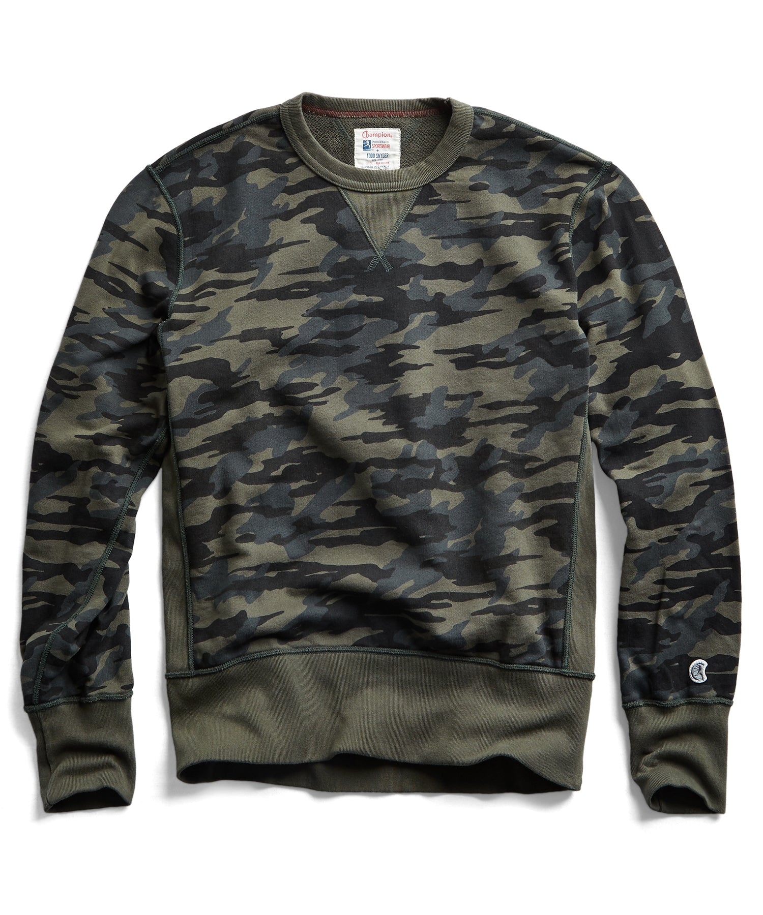 Camo Sweatshirt in Olive