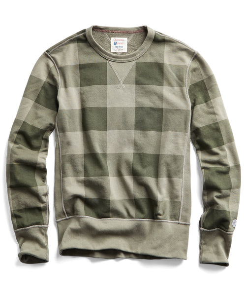 Buffalo Check Sweatshirt in Dark Driftwood