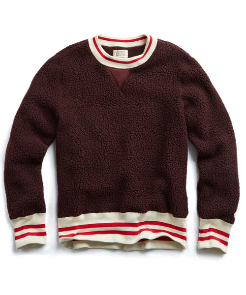 Polartec Sherpa Crewneck Sweatshirt in Plum