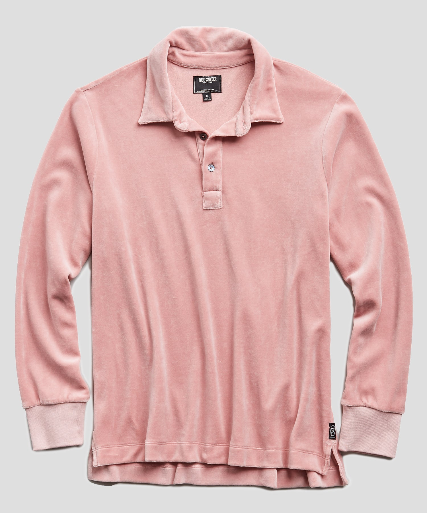 Velour Polo in Pink