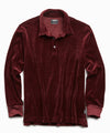 Velour Polo in Burgundy