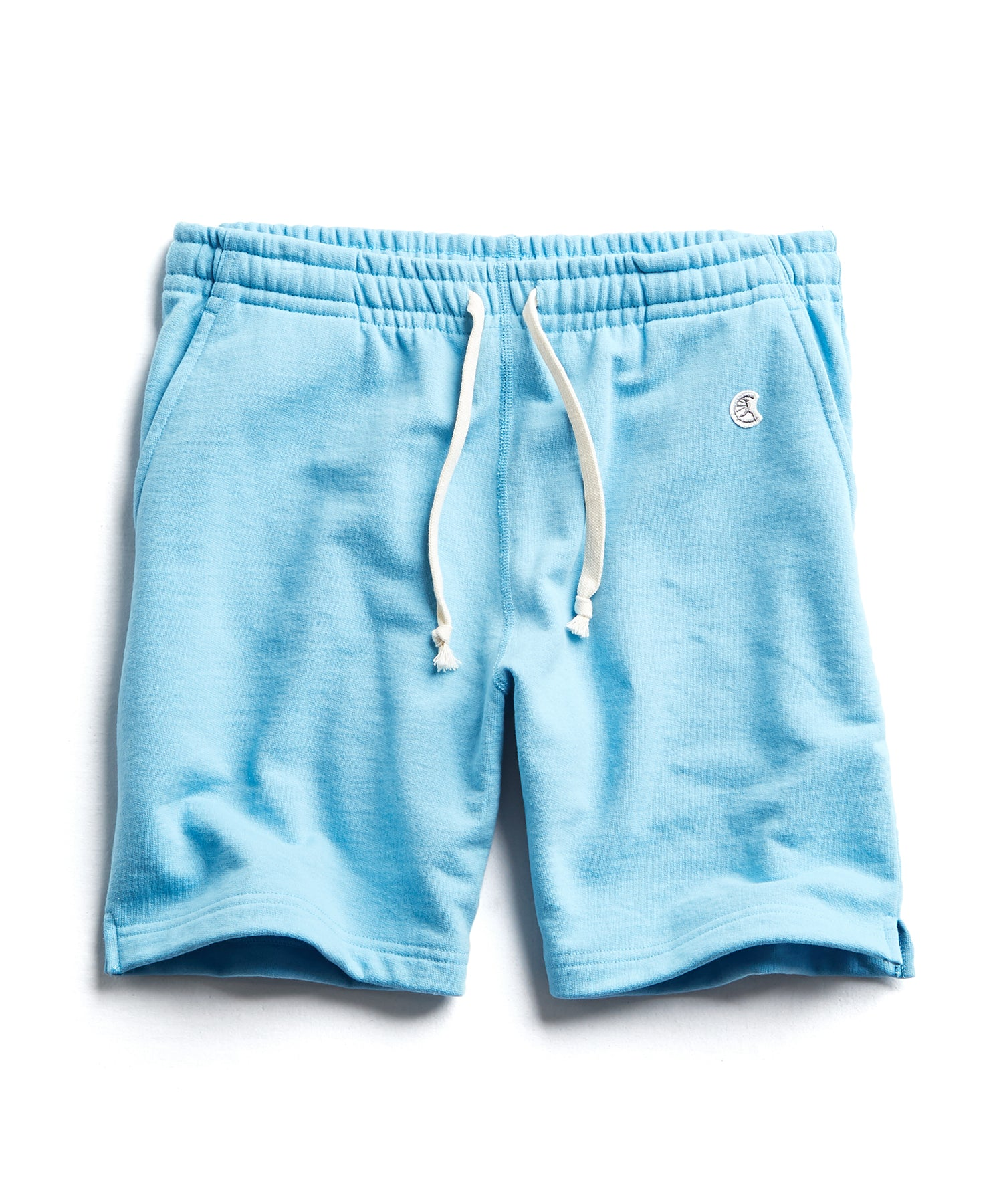 Terry Warm Up Short in Pool Blue