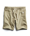 Terry Warm Up Short in Dark Driftwood