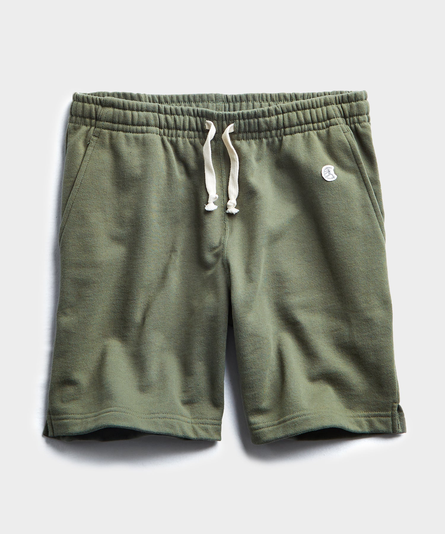 Lightweight Warm Up Short in Washed Olive