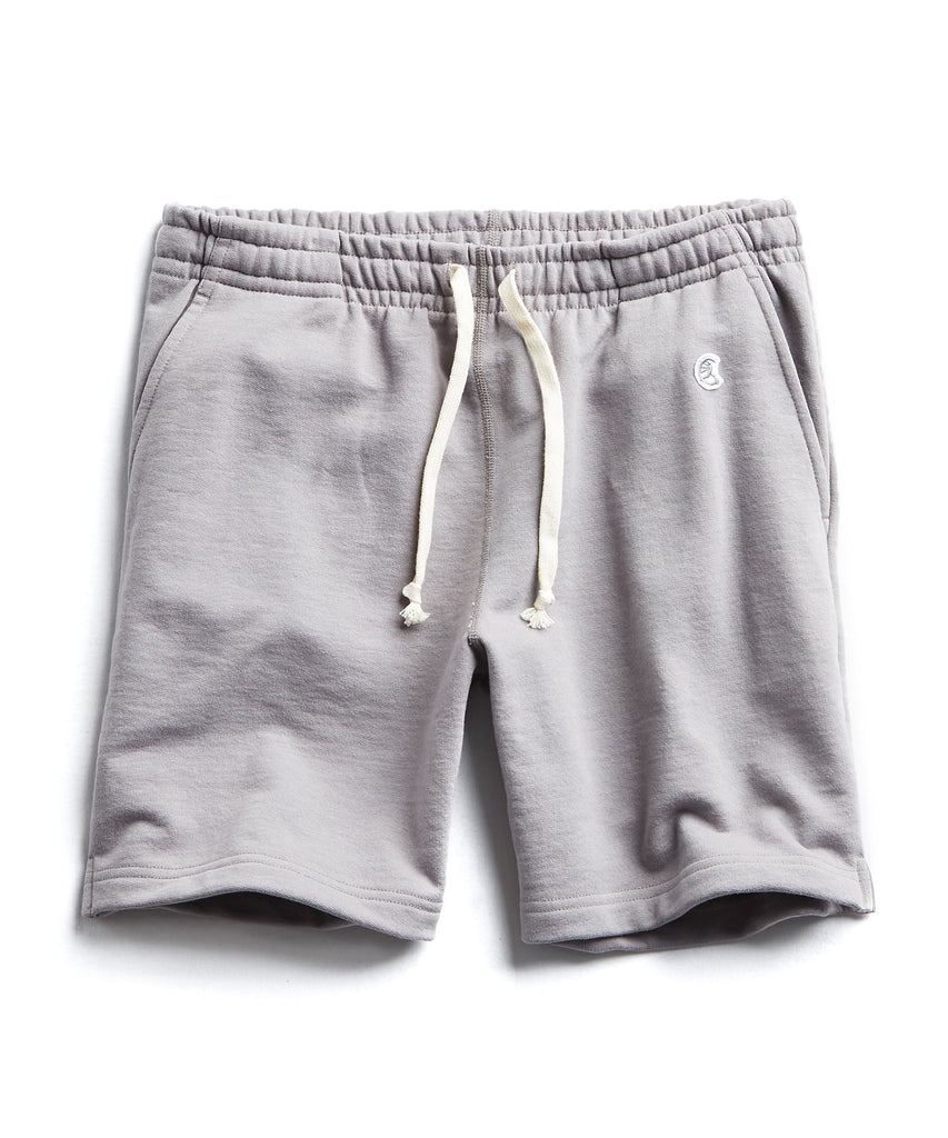 Terry Warm Up Short in Pebble Grey