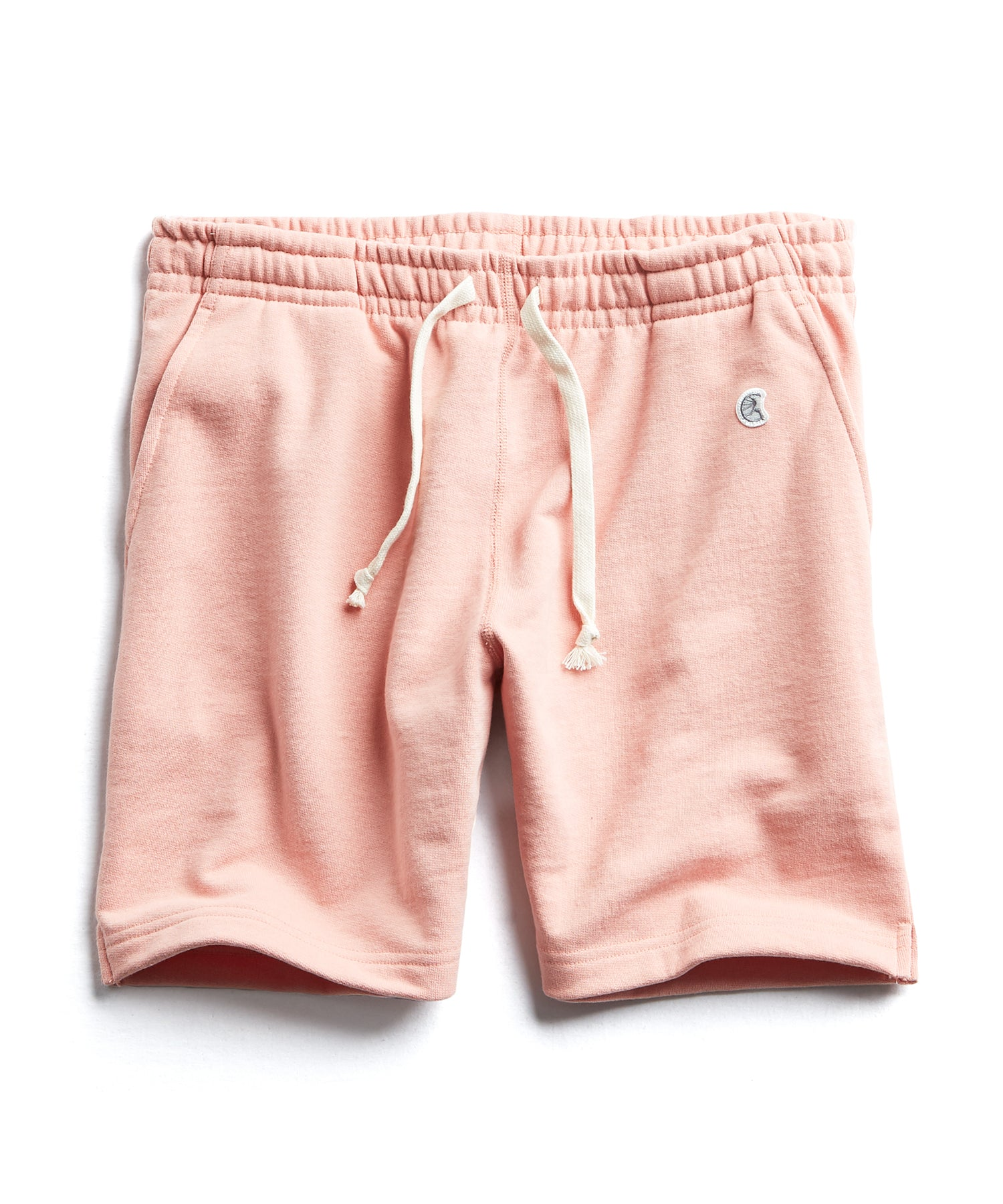 Terry Warm Up Short in Pale Salmon