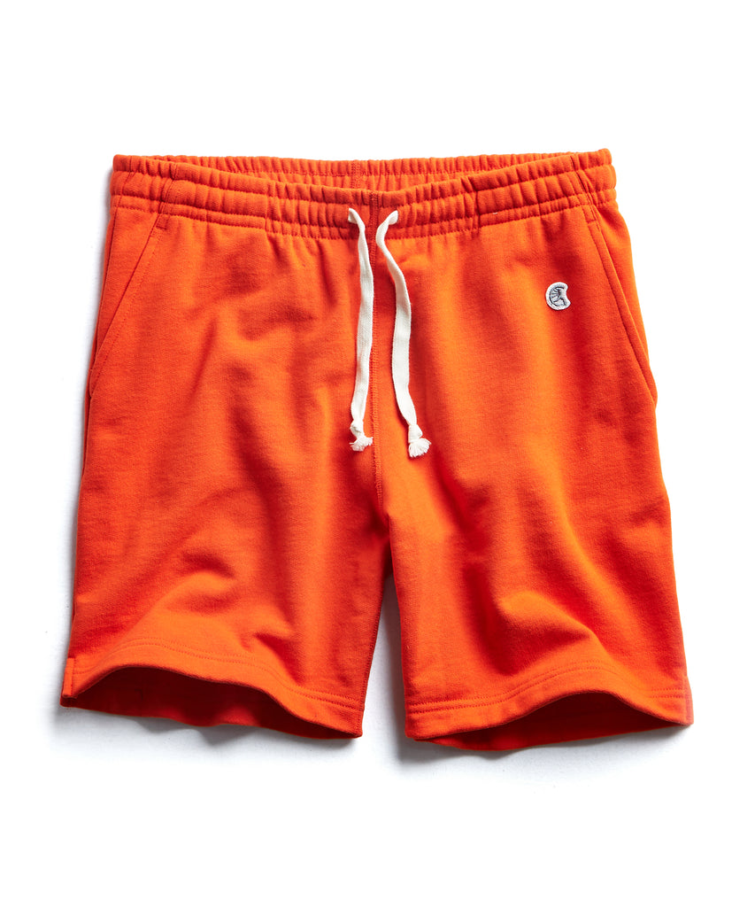 Terry Warm Up Short in Sunset Orange