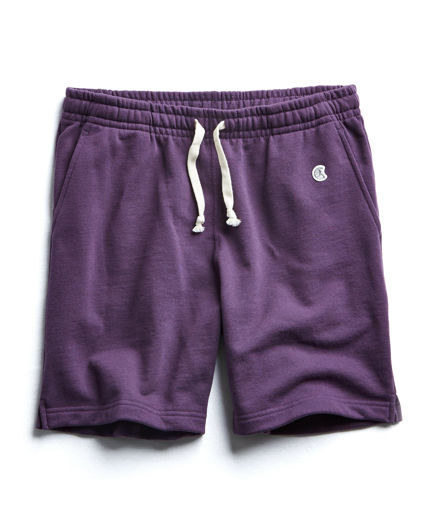 Terry Warm Up Short in Plum Royale