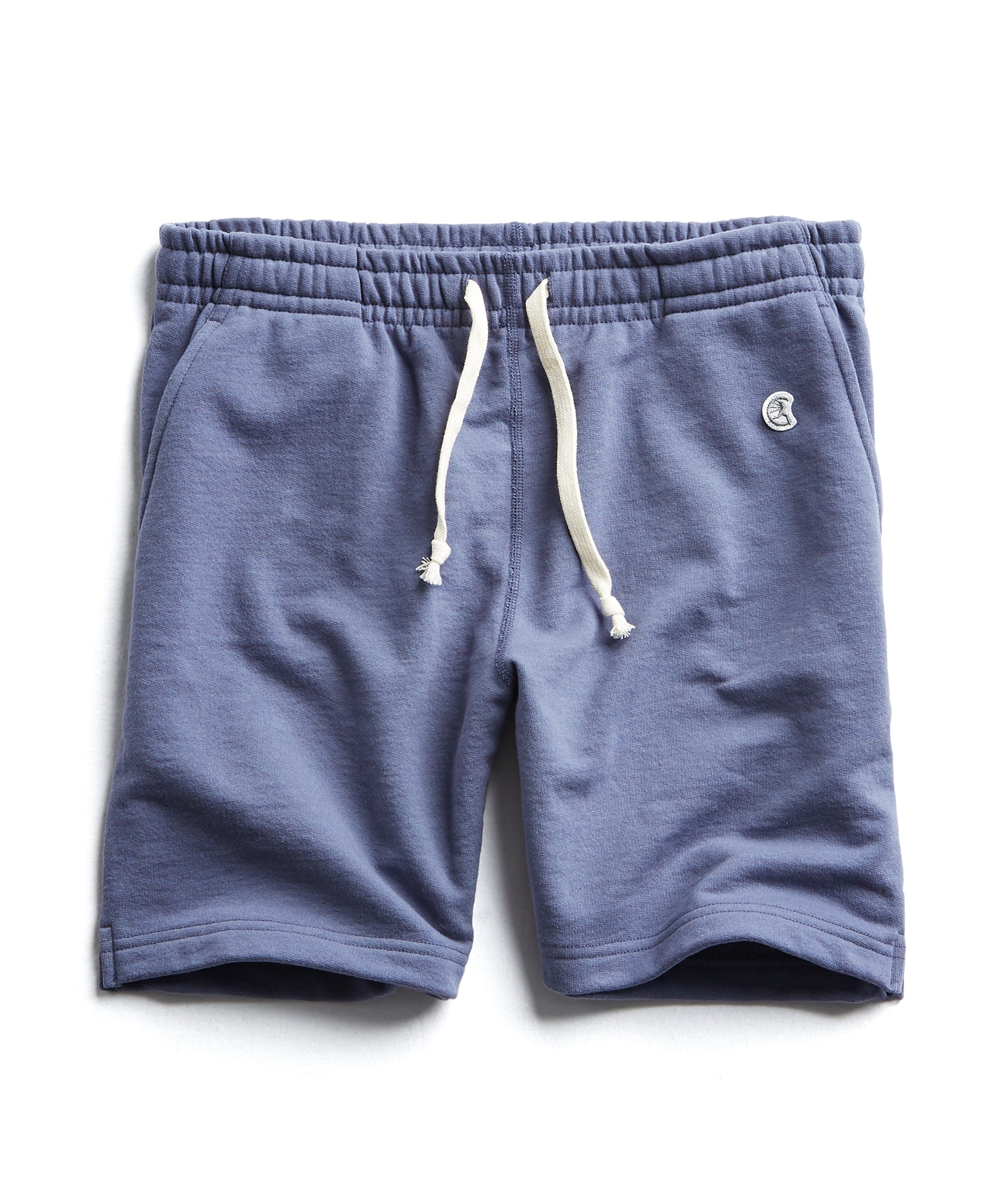 Terry Warm Up Short in Vintage Grape
