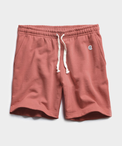 Lightweight Warm Up Short in Rosewine