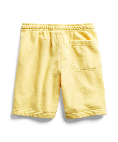 Terry Warm Up Short in Yellow