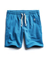 Terry Warm Up Short in Slate Teal