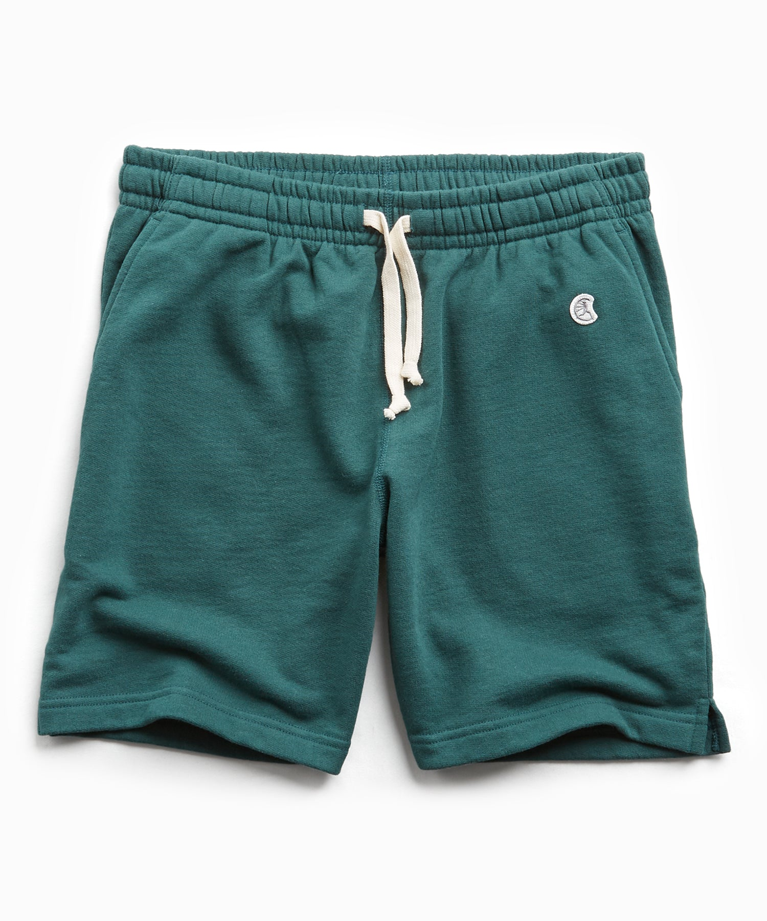 Terry Warm Up Short in Storm Green
