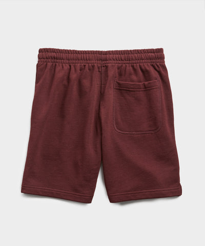 Terry Warm Up Short in Deep Burgundy