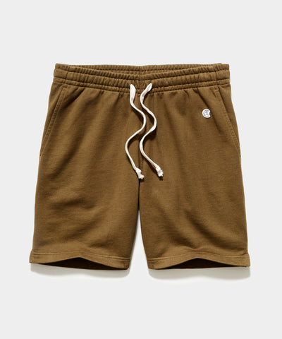 "7"" Midweight Warm Up Short in Mossy Brown"