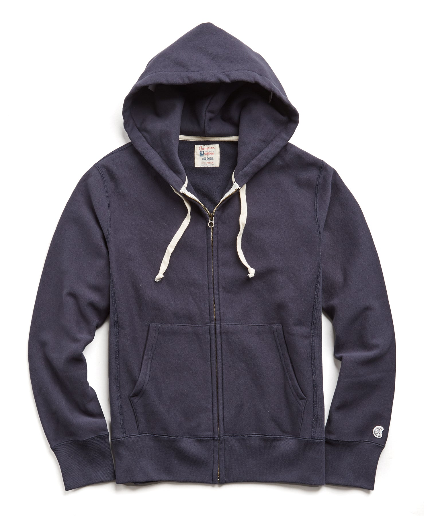 Fleece Full Zip Hoodie in Navy