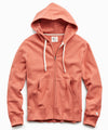 Lightweight Full Zip Hoodie in Orange Russet
