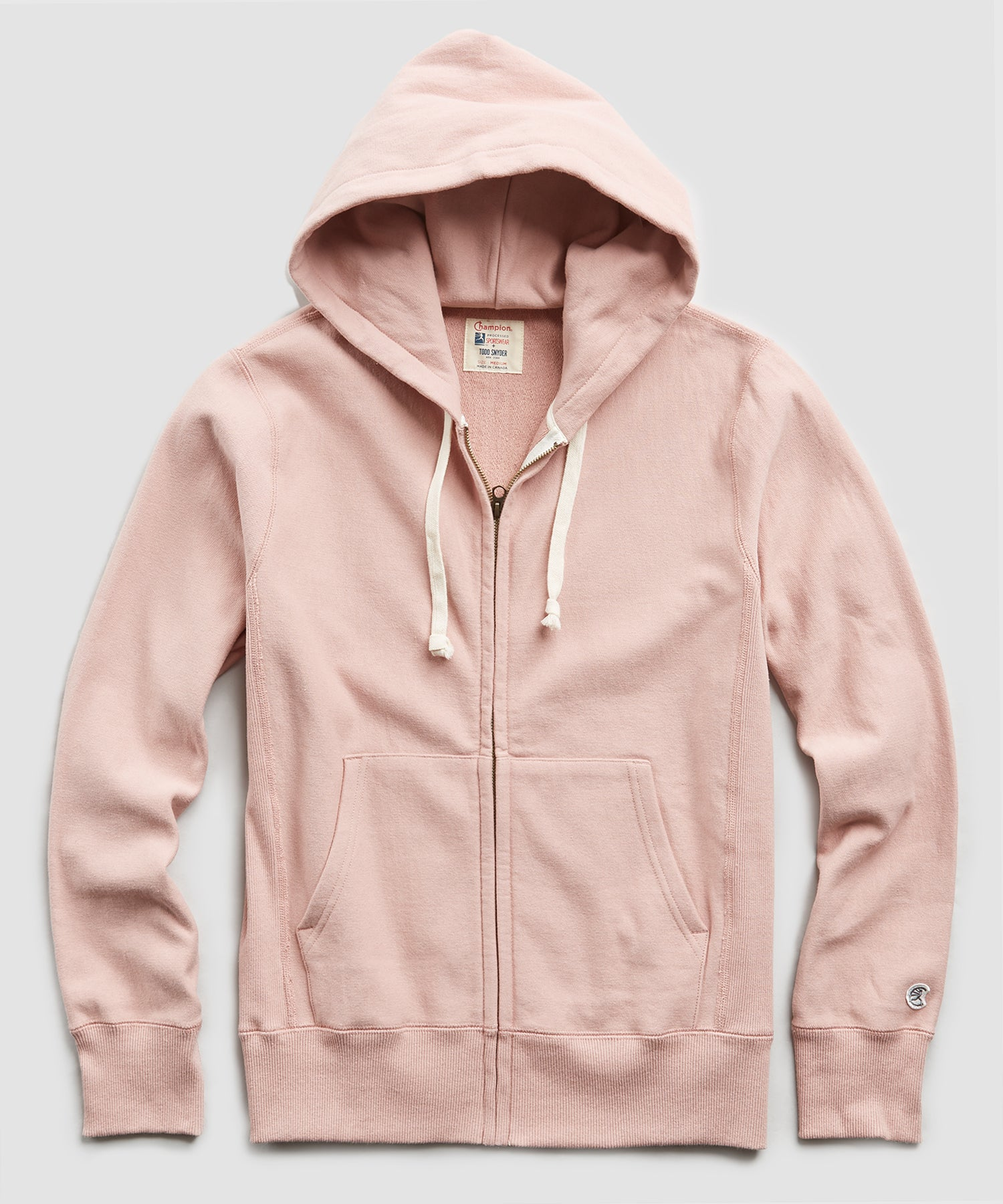 Terry Full Zip Hoodie in Desert Rose