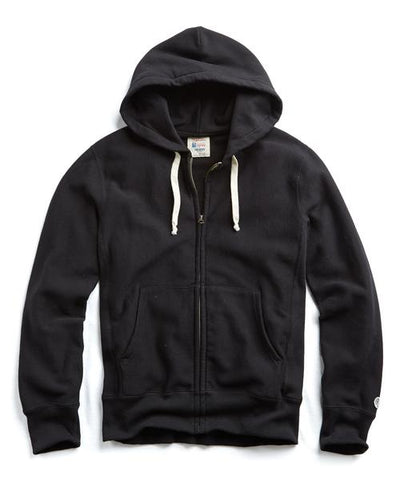 Heavyweight Full Zip Hoodie in Black