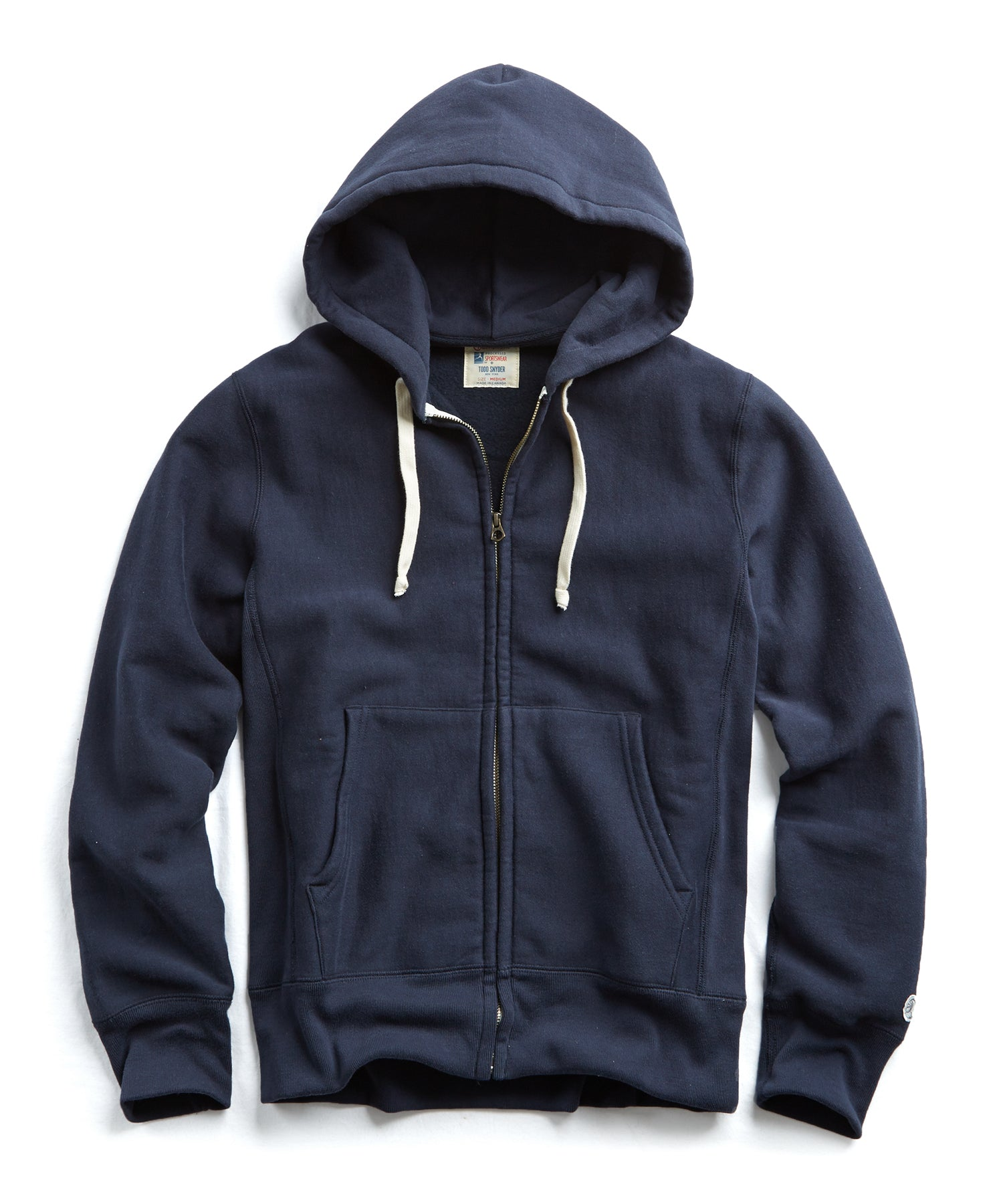 Heavyweight Full Zip Hoodie in Navy