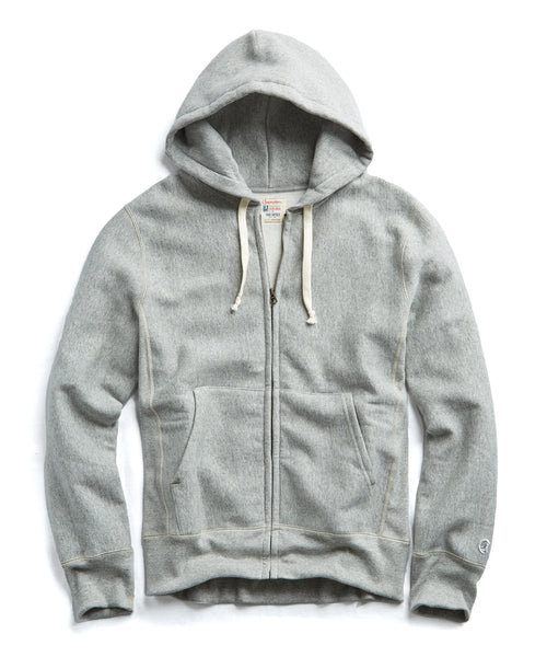 Champion Full Zip Hoodie in Light Grey Mix