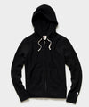 Midweight Full Zip Hoodie in Black