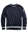 Champion Graphic Reverse Weave Crewneck in Navy