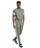 Slim Jogger Sweatpant with Side Stripes in Olive Grove Alternate Image