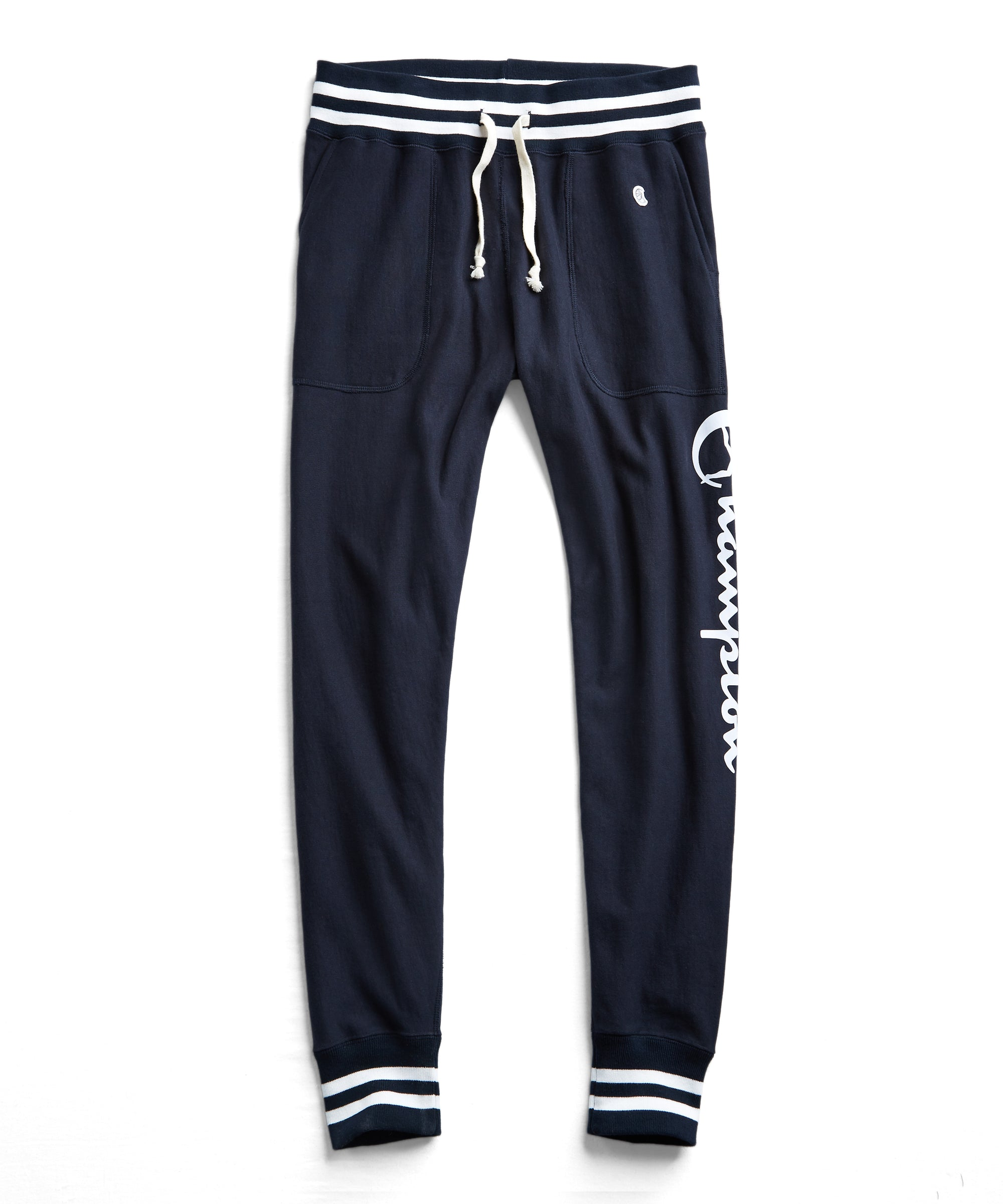 Champion Graphic Slim Tipped Jogger Sweatpant in Navy