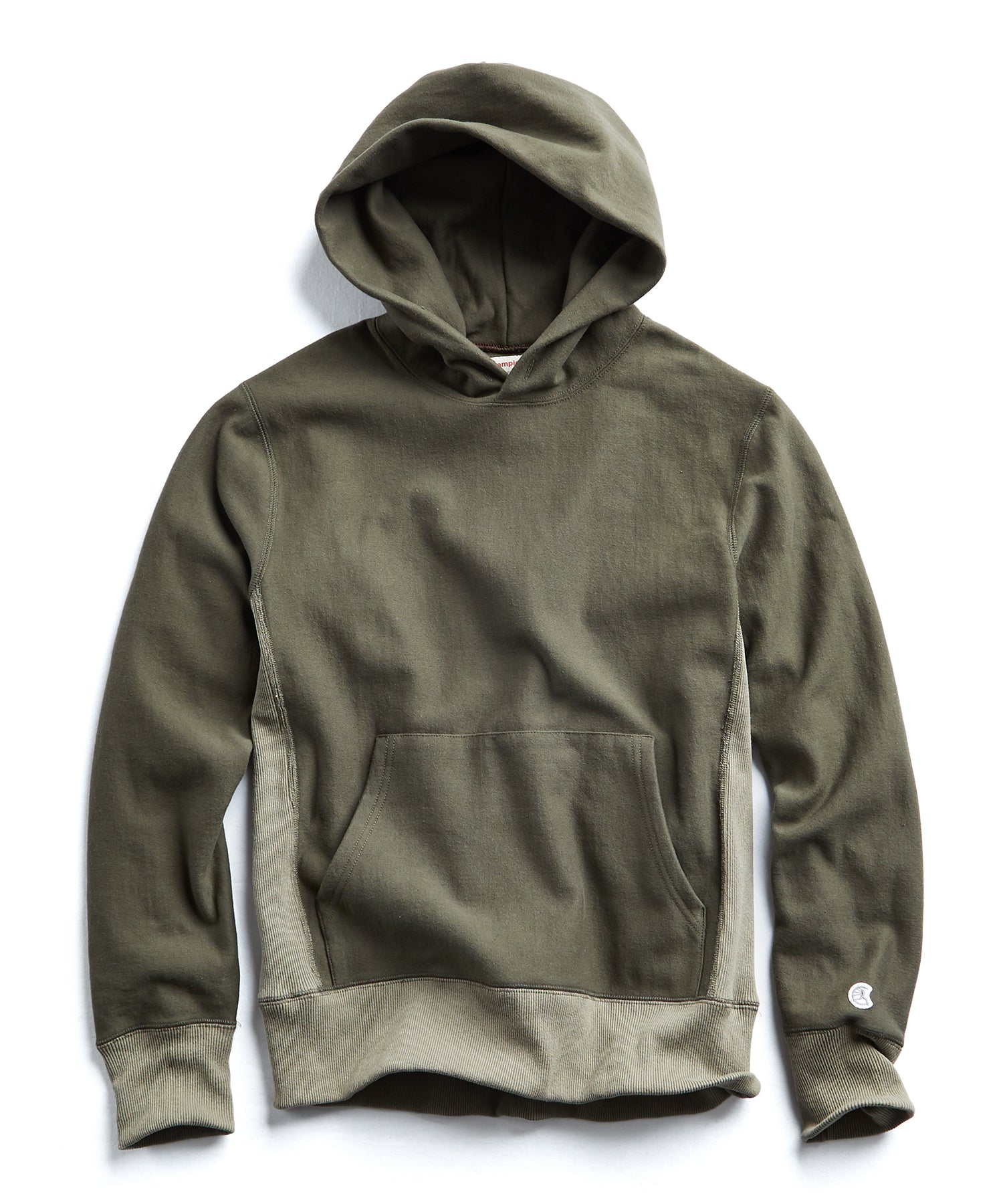 Contrast Popover Hoodie in Olive