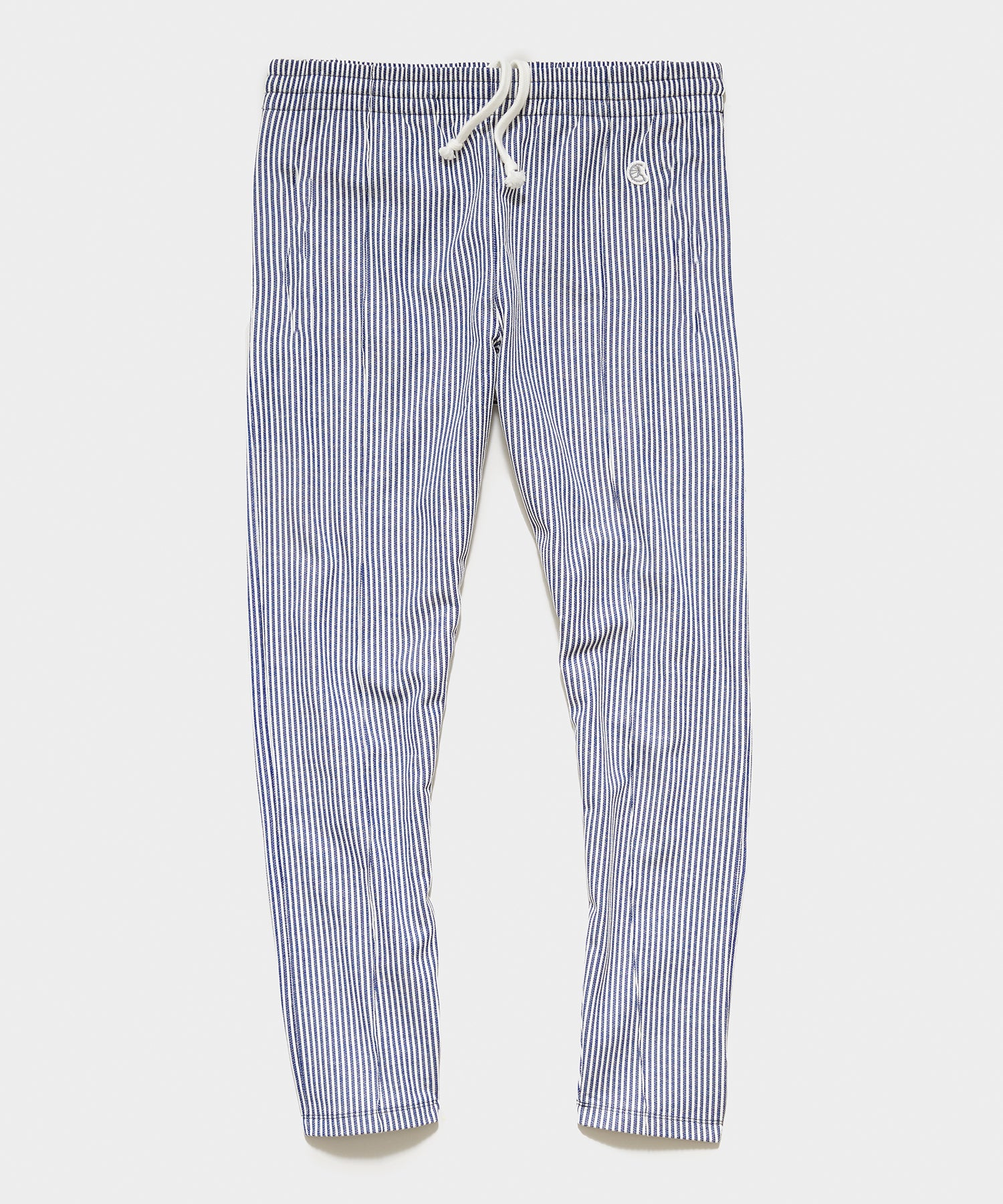 Seersucker Track Pant in Navy