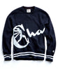 Champion Oversized Script Crewneck Sweatshirt in Navy Alternate Image