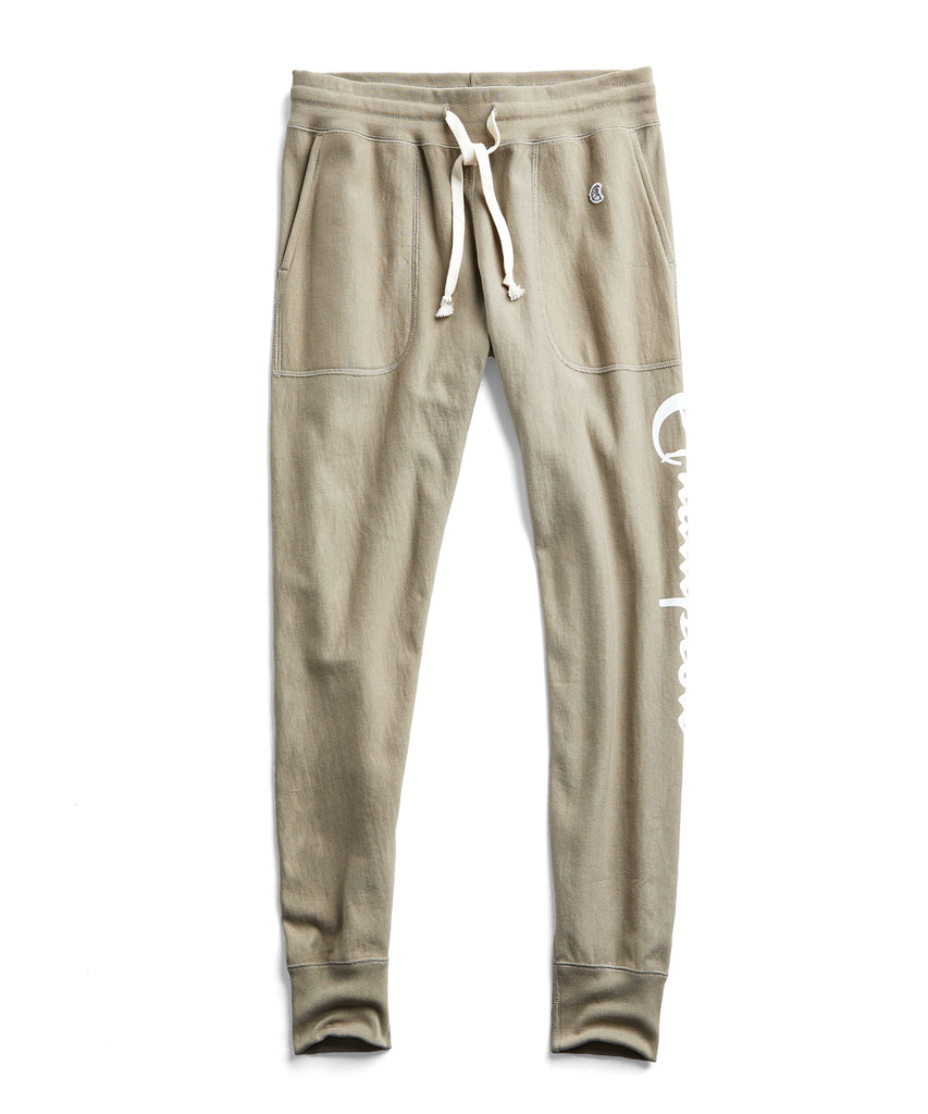 GRAPHIC SLIM JOGGER SWEATPANT IN DARK DRIFTWOOD