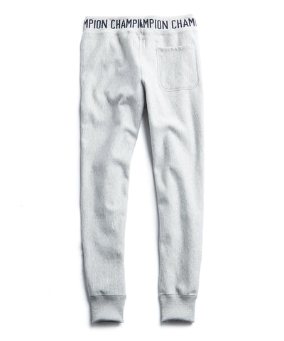 Logo Rib Slim Jogger in Light Grey Mix