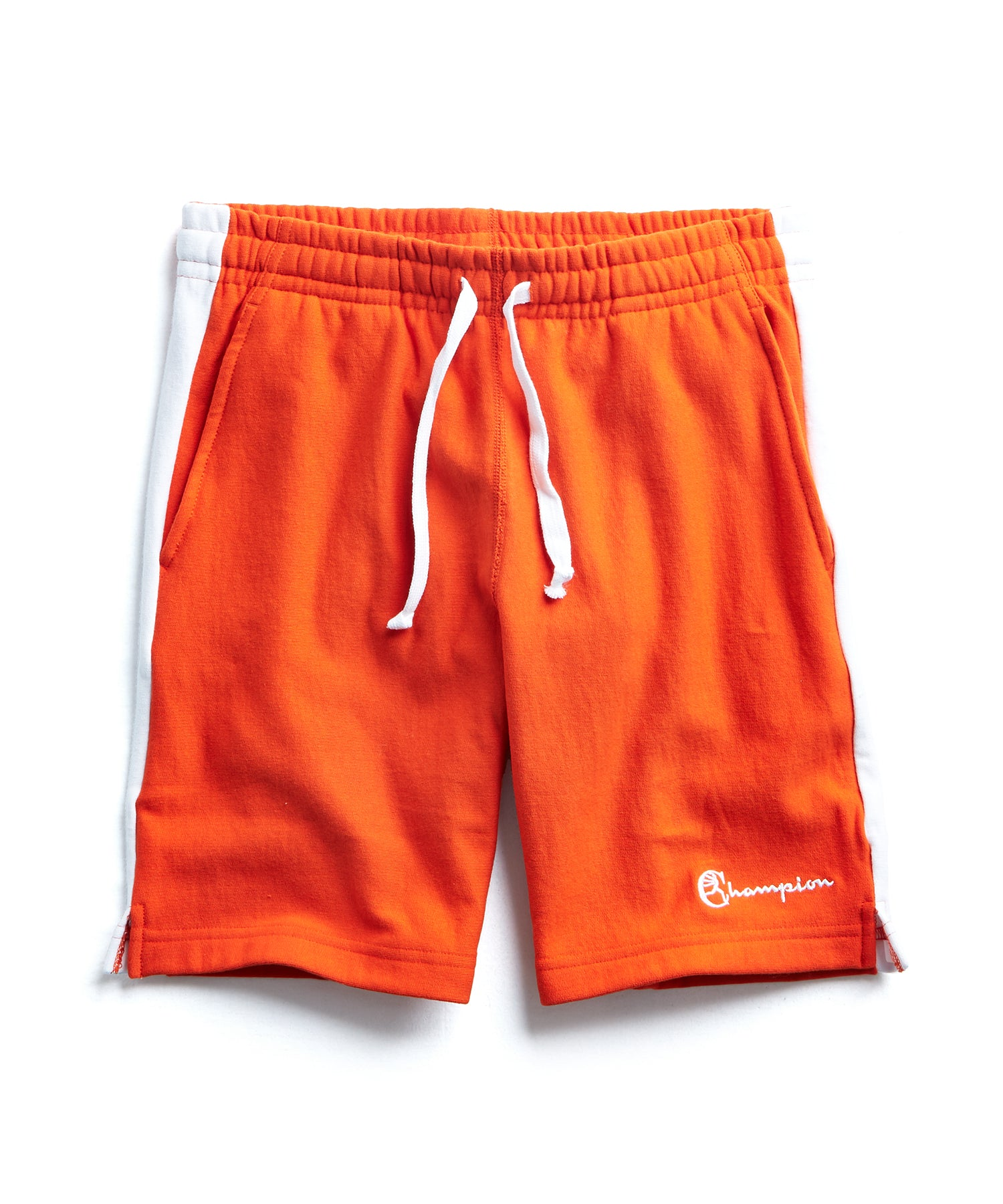 Warm Up Short With Side Panels in Sunset Orange