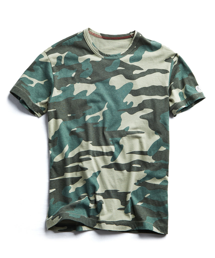 Oversized Camo Tee in Olive Grove