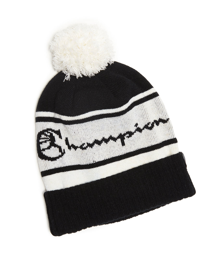 Champion + New Era Pom Pom Beanie in Black 9f66673ad04