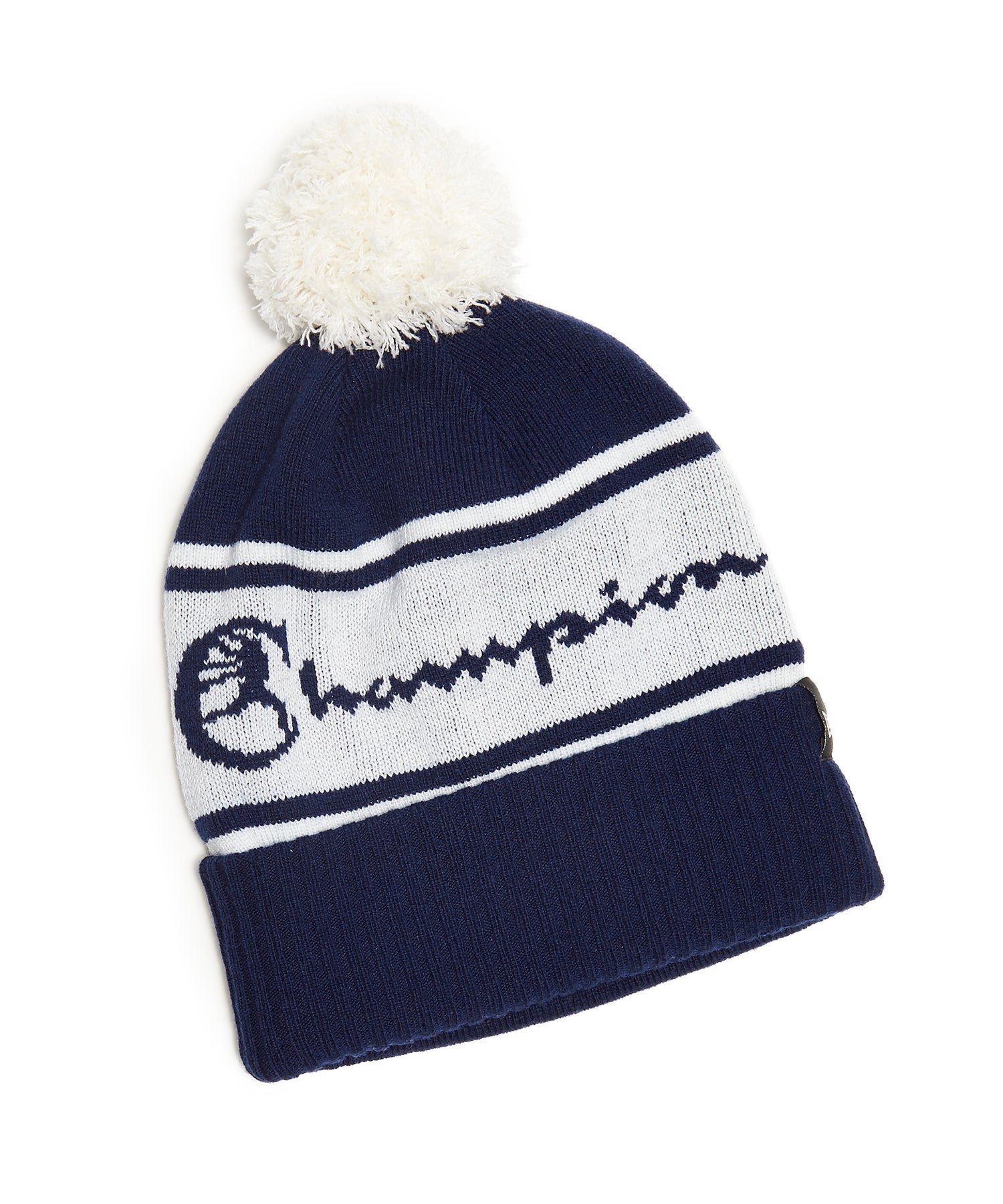 Champion + New Era Pom Pom Beanie in Navy