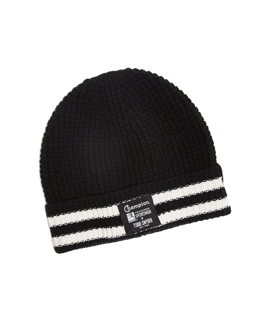 98214900613 Champion + New Era Waffle Knit Beanie in Black
