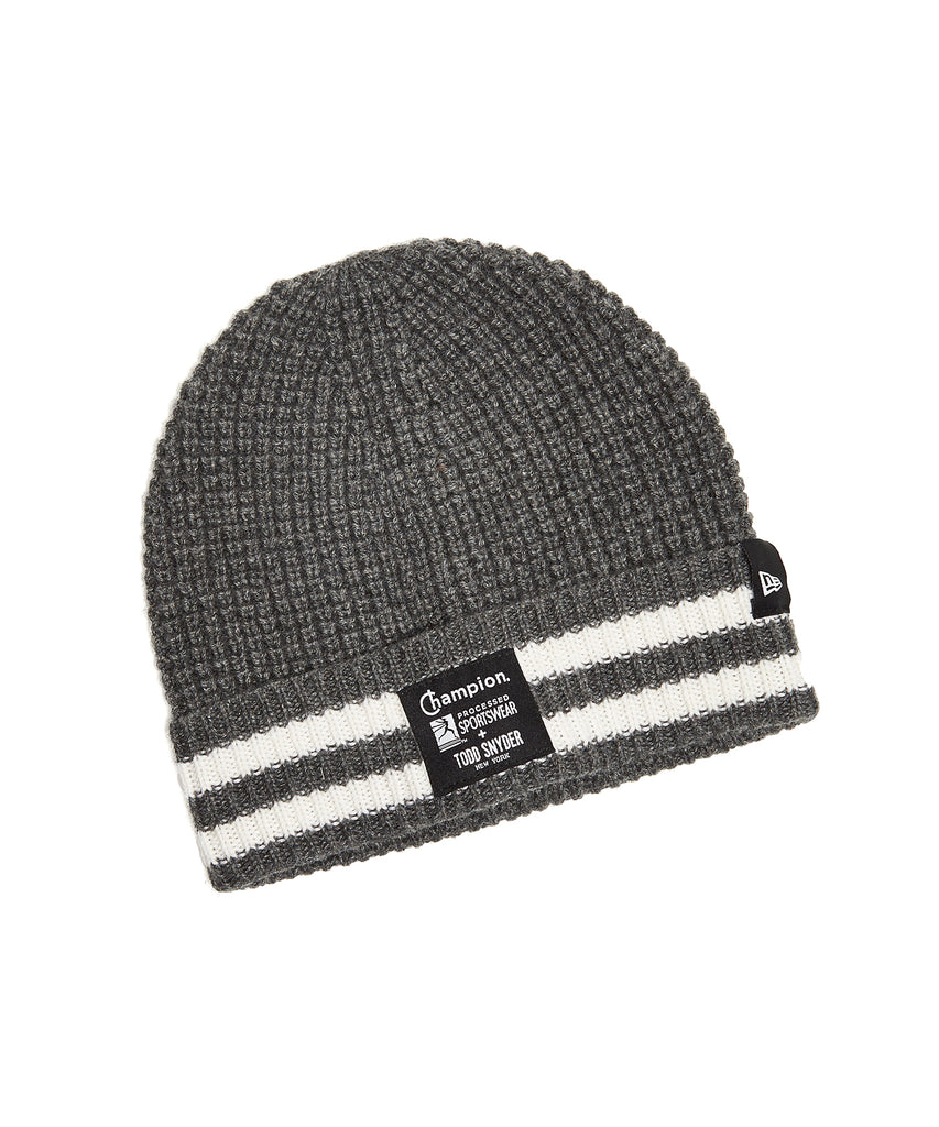 fa59b0f9e1d Champion + New Era Waffle Knit Beanie in Grey