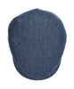 Lock and Co Linen Drifter Flat Cap In Navy Alternate Image